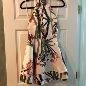 Gorgeous Lulu's Floral Bow Tie Halter Dress Small